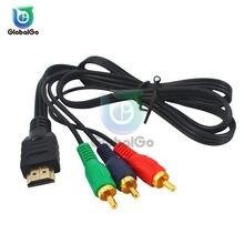 HDMI zu RCA Kabel HDMI Männlich zu 3RCA AV Composite Männlichen M/M Stecker Adapter Konvertieren Kabel Sender