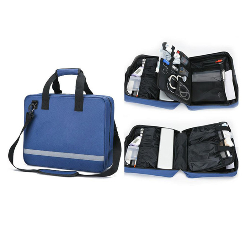 Empty First Aid Kit Bag Waterproof Multi-function Reflective Messenger Bag Family Travel Emergency Medical Kit
