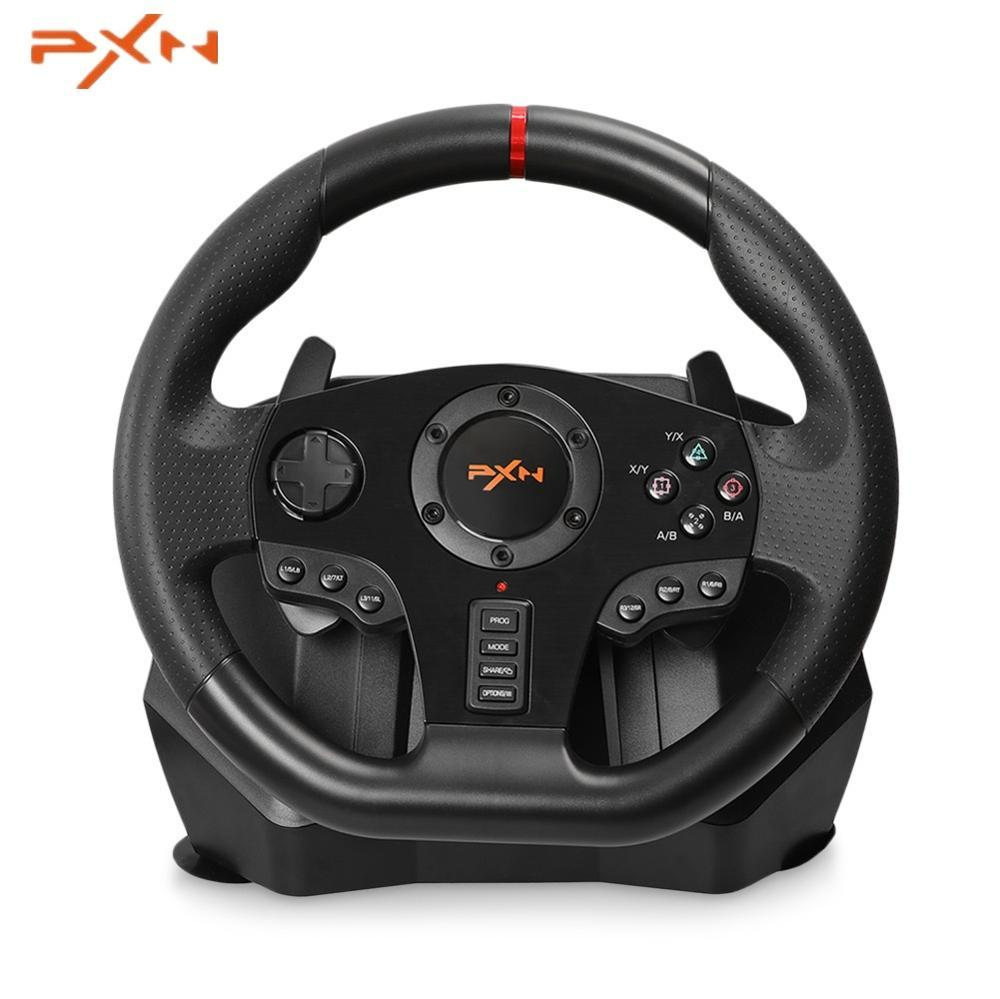 PXN PXN - V900 Gamepad Controller Steering Wheel PC Mobile Racing Video Game Vibration for PS3 PS4 Nintendo Switch Xbox One image