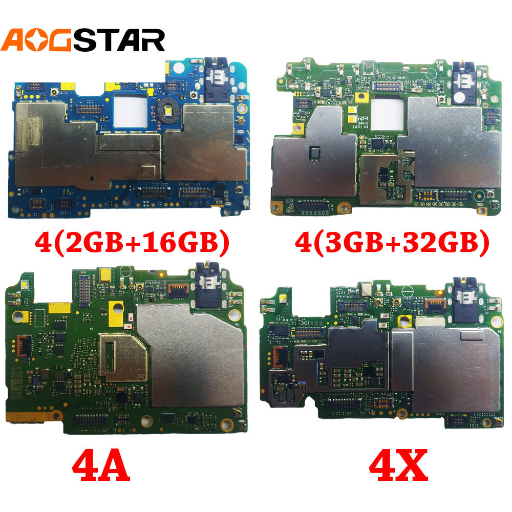 Aogstar Mobile Electronic Panel Mainboard Motherboard Unlocked With Chips Circuits Flex Cable For Xiaomi RedMi Hongmi 4 4A 4X