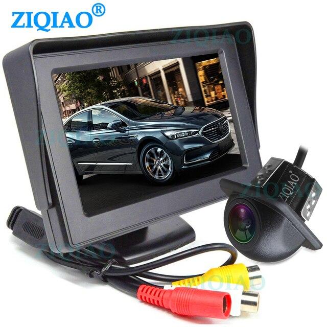 ZIQIAO 4.3 인치 TFT LCD 주차 모니터와 HD 반전 후면보기 카메라 옵션 P01