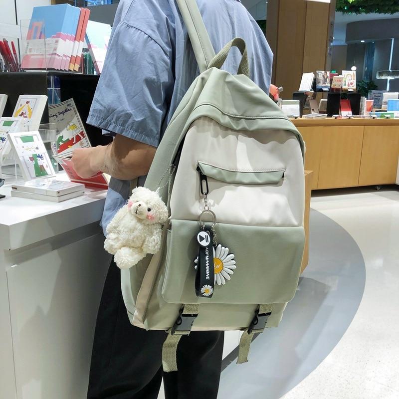 Harajuku Ulzzang Women Backpacks Korean Style College Junior High School Bags For Teenage Girls Boy Bookbag Mochilas Mujer 2020