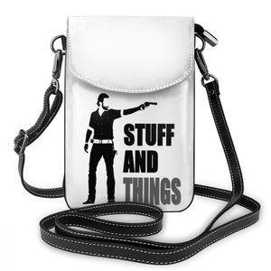 Image 5 - The Walking Dead Shoulder Bag The Walking Dead Leather Bag Multi Function Print Women Bags Crossbody Purse
