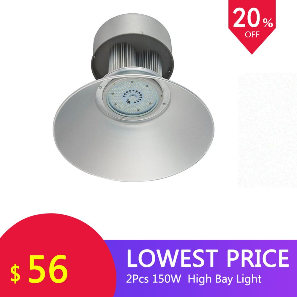 2PCS GERUITE 150W LED High Bay Industrial Light 2835 SMD 85-265V Factory Lighting For Factories Mines Warehouses Ceiling Lights