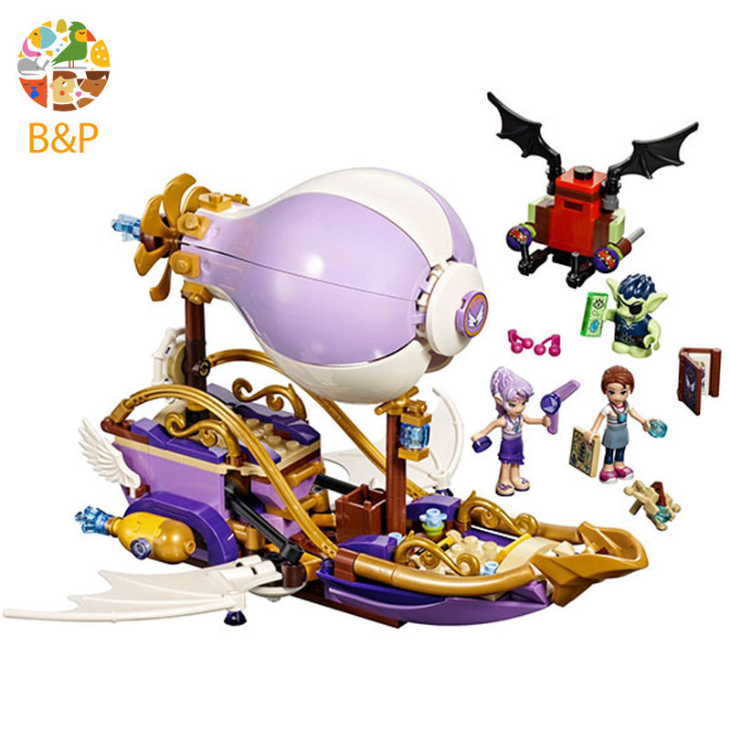 41184 349pcs Elves The Aira's Airship & the Amulet Chase Model Building set Blocks kidsl Bricks toy Compatible <font><b>10696</b></font> image