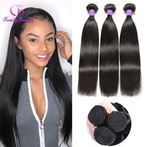 Peruvian Straight Hair 3 Bundles 100% Human Hair Extensions non-remy Trendy Beauty Hair Peruvian Straight Hair Bundles