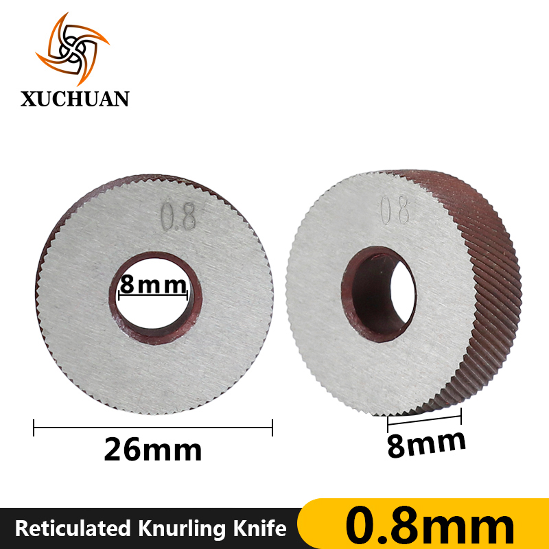 0.8mm Reticulated Knurling Wheel Gear Shaper Cutter Lathe Inner Hole Embossing Wheel Reticulated Knurling Knife