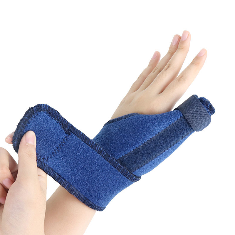 Bracer Wrist Through Large Thumb Sheath Steel Bar Support Fixed Men And Women Thumb Fixing Band Athletic Wristguards