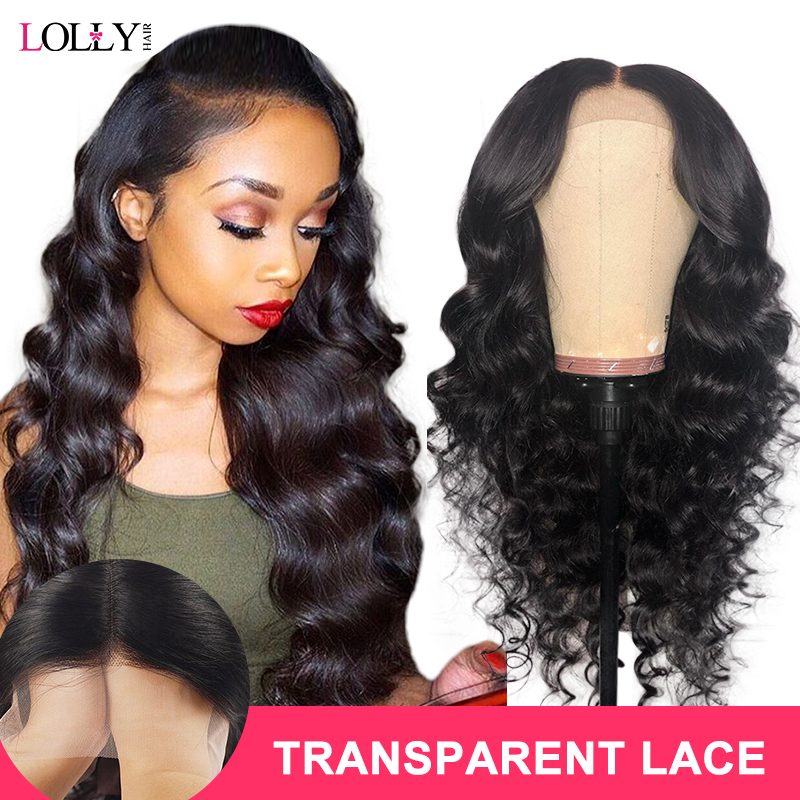 Malaysia HD Transparent Lace Front Human Hair Wigs 4x4/ 13x4/ 13x6 Loose Wave Human Hair Closure Wigs Pre-plucked With Baby Hair