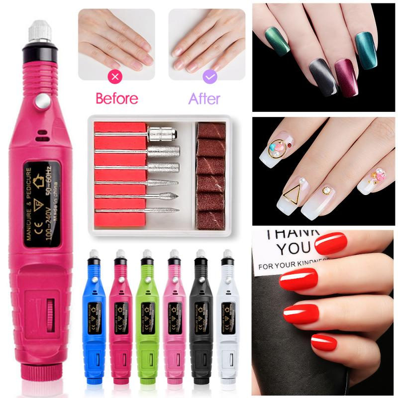 3000 to 20000 RPM Electric Nail Drill Machine Manicure Set Pedicure Nail Drill File Gel Remove Polishing Tool Portable Equipment