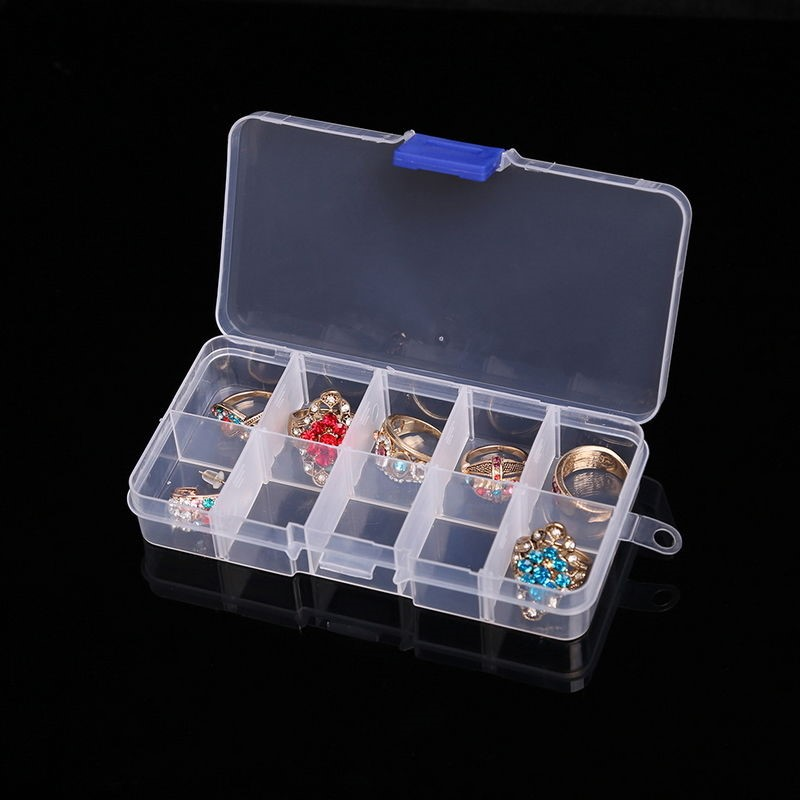 10 15 24 36 Grids Adjustable Plastic Jewelry Beads Pills Nail Tips Storage Box Case Container Organizer Container Home Supplies in Storage Boxes Bins from Home Garden