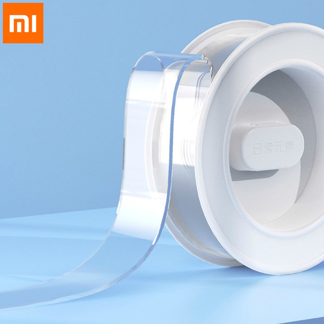Xiaomi Everyday Elements Magic Seamless Transparent Tape Double Sided No Trace Tape Repetition Use Washable
