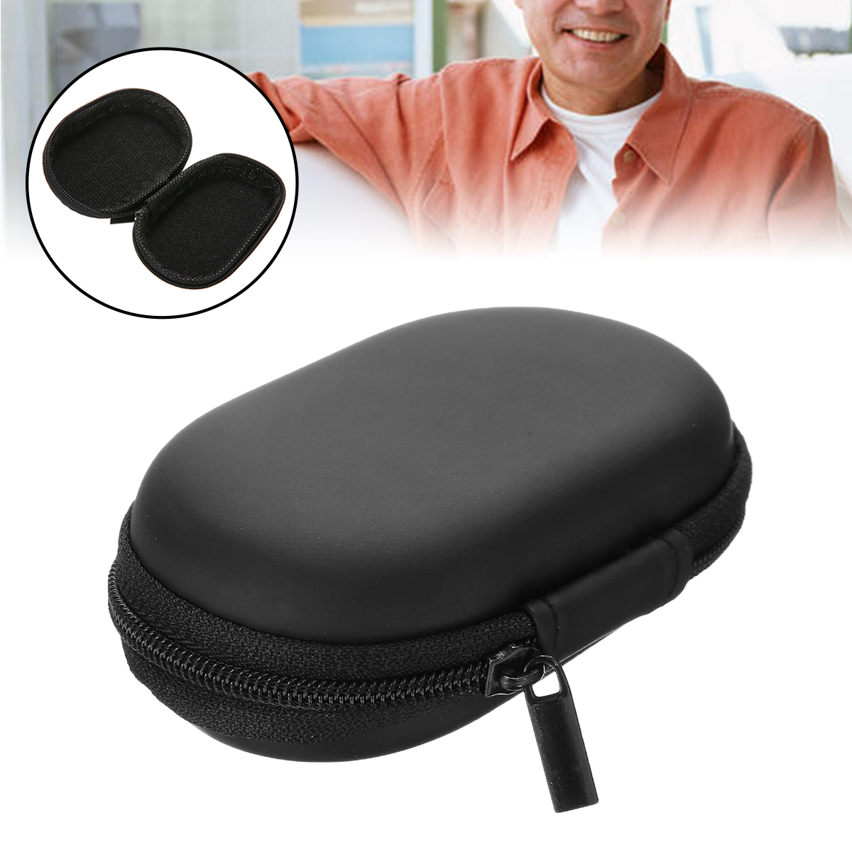 1pc New Black Portable Oximeter Bag SpO2 Finger Pulse Oximeter Pouch Bag Carrying Case Bag For Fingertip Pulse Oximeter