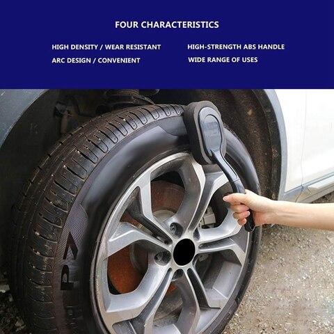 especial do pneu que veste polimento da cera preto
