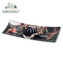 EARLFAMILY 13cm x 5.3cm For My Hero Academia Slap Car Stickers Car Styling Decal Waterproof Sunscreen Vinyl Material Decor