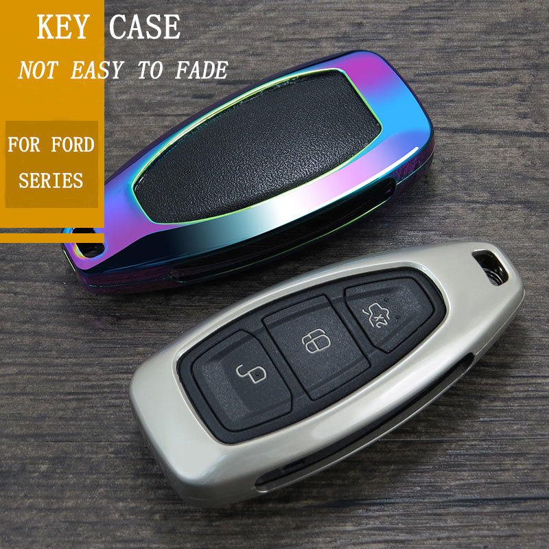 lowest price Car Key Case Cover for Ford Fiesta Focus Mondeo MK4 MK2 mk3 ranger Ecosport Kuga 2 3 ST Car Key