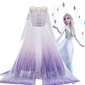 Платье Снежная королева для девочек, белое платье для Хэллоуина, Детский костюм для косплея, платье для малышей на день рождения, Рождествен...
