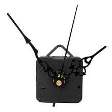 Высококачественные кварцевые настенные часы с механическим ходом черные руки запасные части комплект