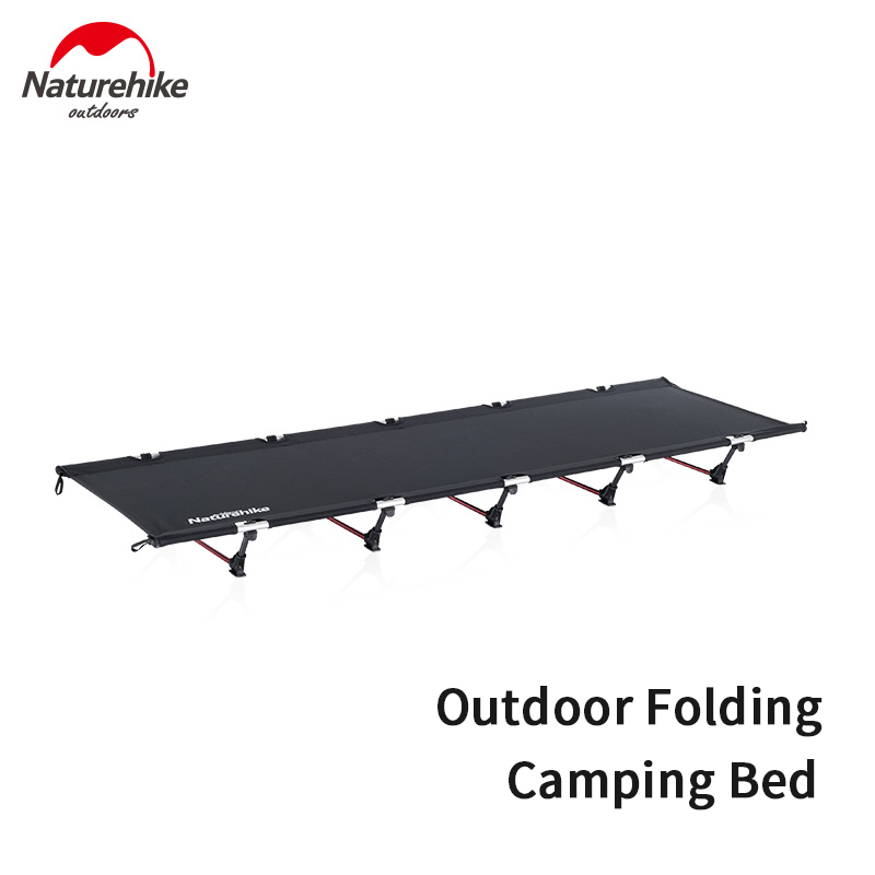 Naturehike Folding Camping Bed Bearing 150kg Outdoor Portable Camp Bed Breathable Nylon Bed Cot Camping Travel Leisure