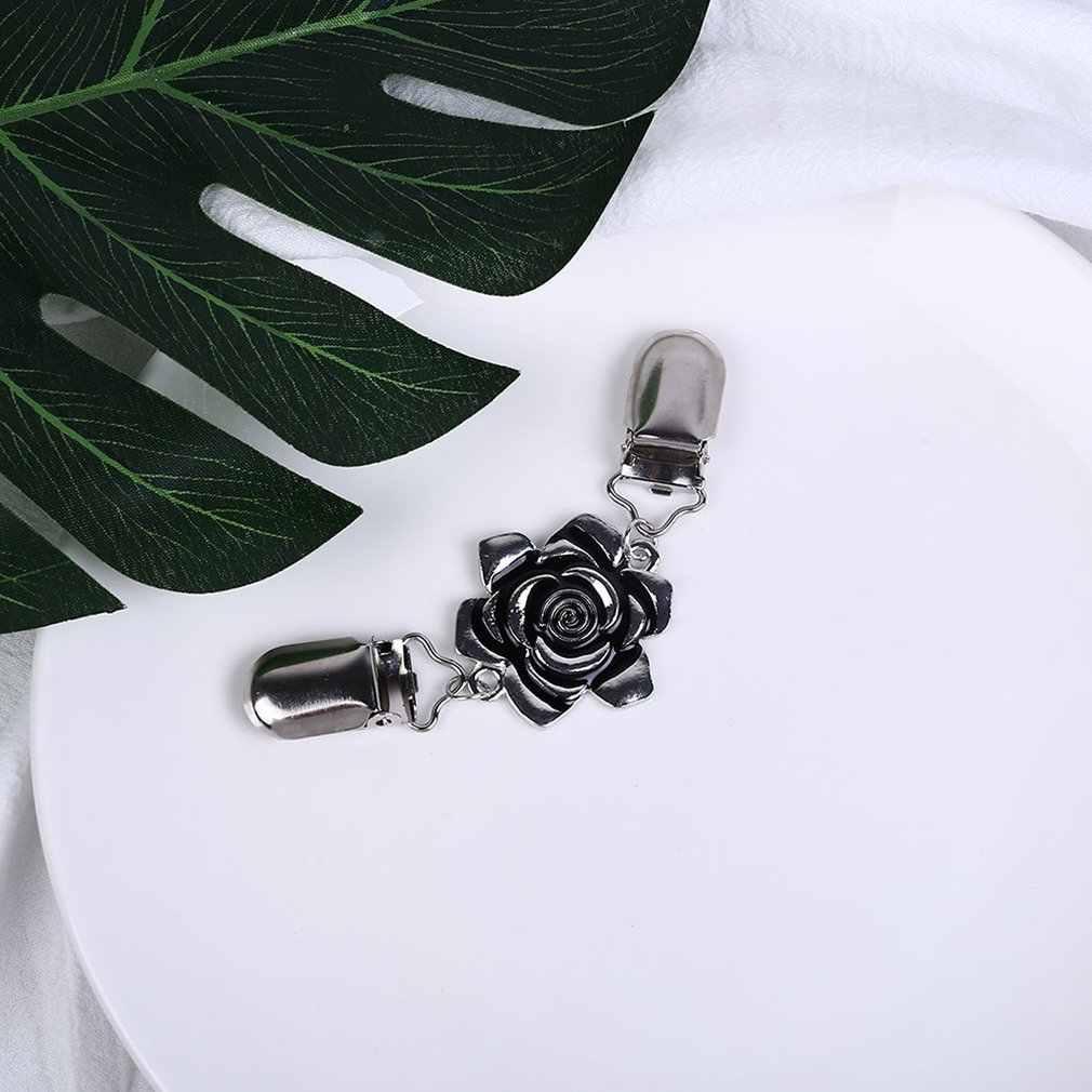 Ze stopu znakomity proces sprawia, że jest trwały i wytrzymały kroplówki róża kwiat szal klips z klipsem mężczyzn i kobiet