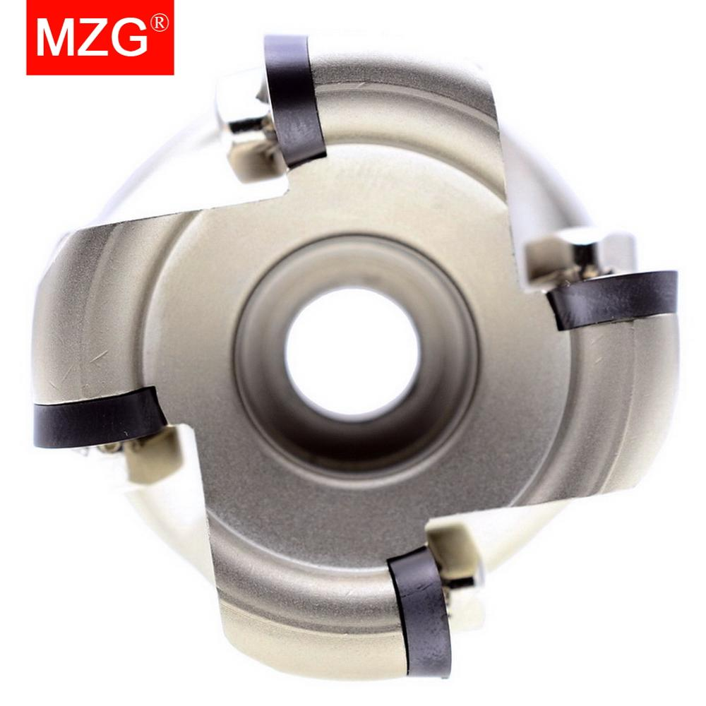 Купить с кэшбэком MZG EMR 5R 63 80 100 mm RP Carbide Insert Clamped Alloy End Mill Shank Milling Cutting Machining Round Nose Milling Cutter