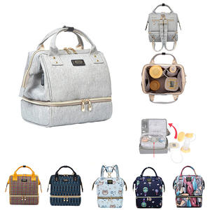 Diaper-Bag Stroller-Organizer Nappy Changing-Backpack Lunch-Bag Travel Grey Small Baby
