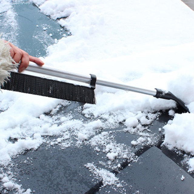 Winter Car Windshield Ice Scraper Glass Snow Brush Extendable Stainless Steel Snow Remover Cleaner Tool Broom Wash Accessories