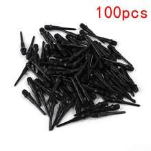 Pointes de rechange pour fléchettes électroniques, haute précision, résistantes à l'usure, durables, en plastique souple noir