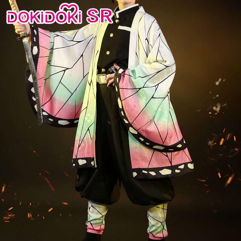 DokiDoki-SR Аниме Косплей демона убийца: Kimetsu no Yaiba Косплей Kochou Shinobu Kimetsu no Yaiba костюм женский костюм Shinobu