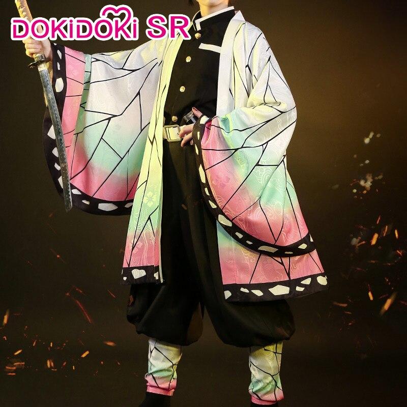 IN STOCK DokiDoki Anime Cosplay Demon Slayer: Kimetsu No Yaiba Cosplay Kochou Shinobu Kimetsu No Yaiba Costume Women Costume