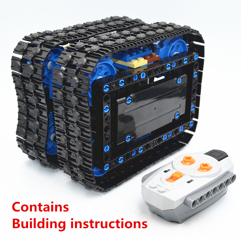 Building Blocks MOC Technic Compact Tracked Cube (RC) compatible with lego For boys toy (Designer by martijnnab)