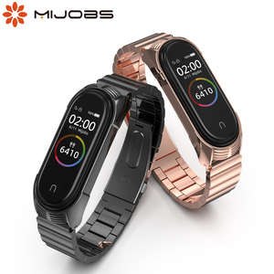 Mi Band 5 Strap Wrist Bracelet for Xiaomi Mi Band 4 Metal Wristbands for Pulseira Mi Band 3 Correa Stainless Steel Aceesories(China)