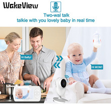 WakeView Wireless 1080P Video Baby Monitor 4.3 inch Color Security Camera 2 Way Talk Night Vision IR LED Temperature Monitoring