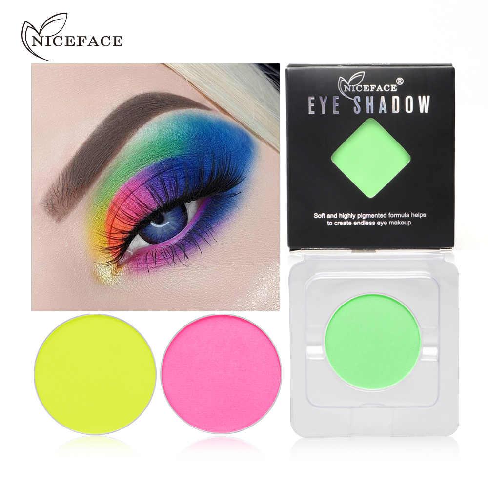 NICEFACE สดใส Eyeshadow Palette Eyes แต่งหน้าง่ายต่อการสวมใส่อายแชโดว์สีม่วง Make up Art ยาวนานเงาเครื่องสำอาง