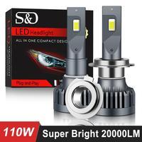 Super brillante 20000LM de los faros de coche H7 LED Canbus H4 LED H1 H8 H11 H3 HB3 9005 HB4 9006 luces LED de Auto bombilla de 110W 6500K