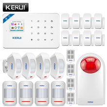 KERUI sistema de alarma inalámbrico W18 para el hogar, sistema de alarma GSM WIFI, sistema de seguridad antirrobo para el hogar, Panel central recargable, Control por aplicación Android, iPhone e IOS