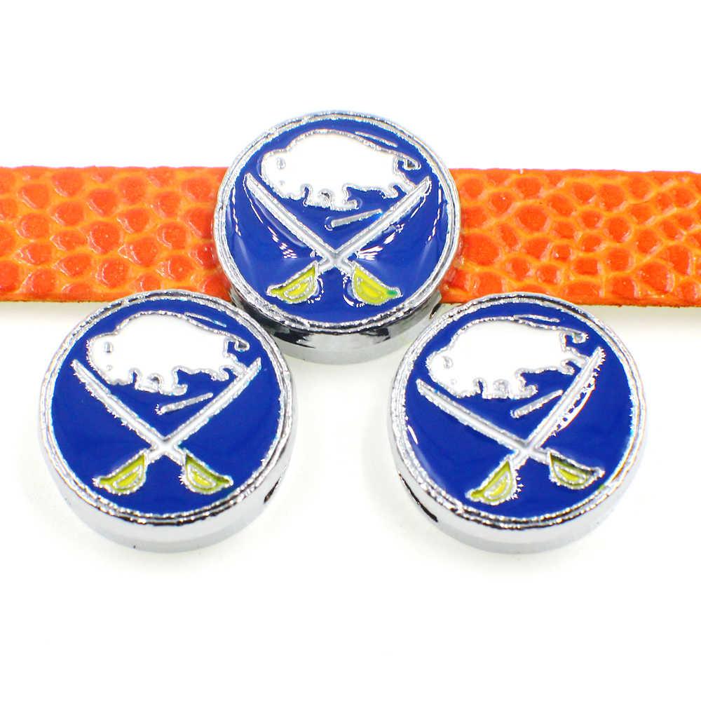 8 millimetri Diapositiva Pendenti e Ciondoli Per Il Regalo di DIY Maple Leaf Rangers Distintivo di Scorrimento Cinture Braccialetti I Braccialetti Della Collana Monili Che Fanno