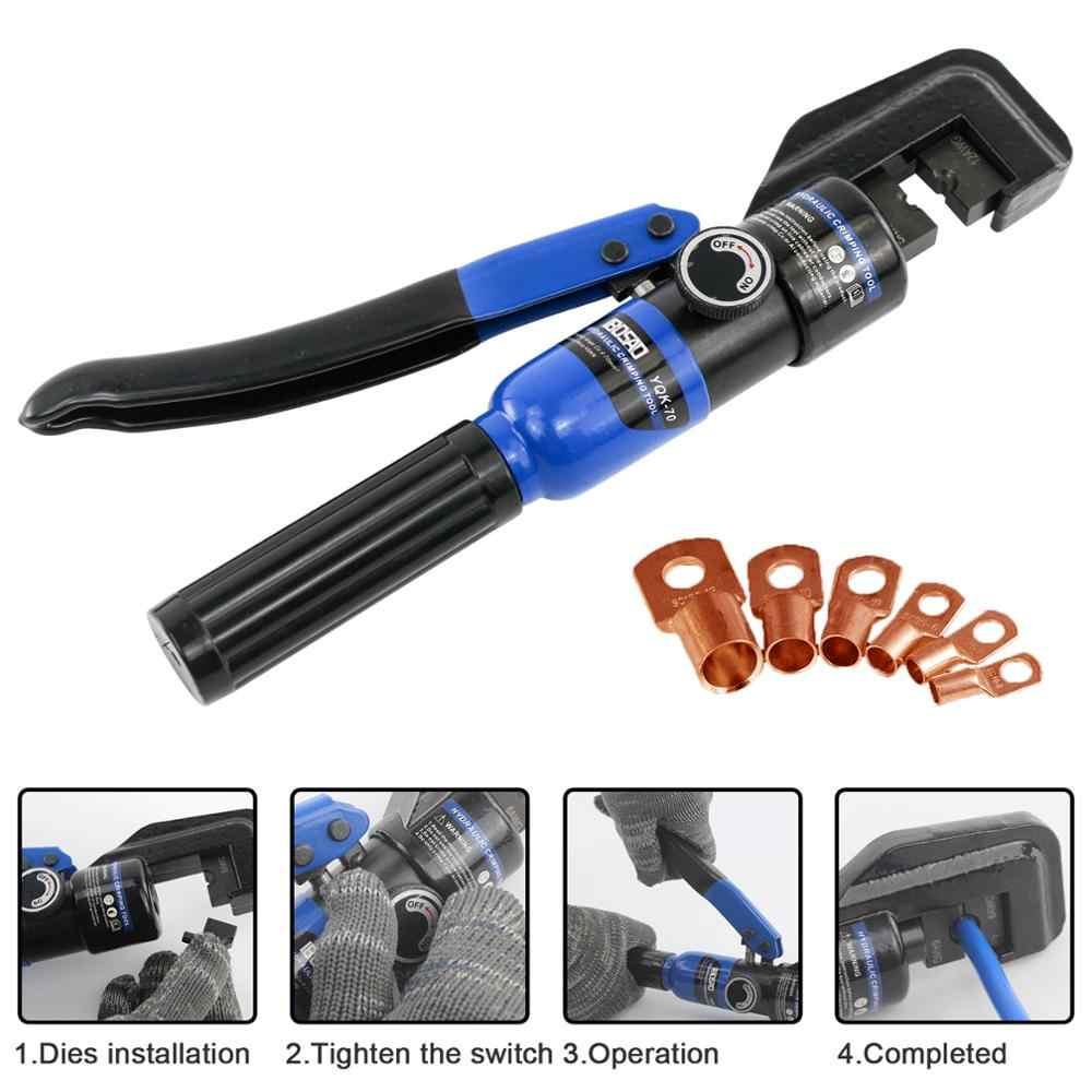 Hydraulische Crimpen Werkzeug Kabel Lug Crimper Zange Hydraulische Kompression Werkzeug YQK-70 4-70mm2 Druck 5-6T