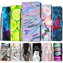 Flip Phone Case For Samsung Galaxy M02 M02S M12 A02 A02S A12 A32 A52 A72 5G Wallet Painted Leather Card Holder Stand Book Cover