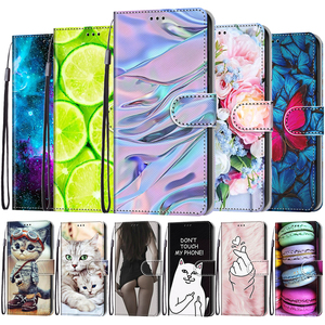 Image 1 - Flip Phone Case For Samsung Galaxy M02 M02S M12 A02 A02S A12 A32 A52 A72 5G Wallet Painted Leather Card Holder Stand Book Cover