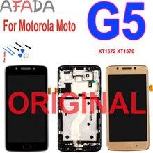 ЖК-дисплей 5,0 ''для Motorola Moto G5, сенсорный экран, дигитайзер в сборе с рамкой для замены для Moto G5 XT1672 XT1676 XT1670