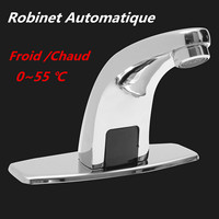 Sink Faucets Water Tap Automatic Infrared Sensor Faucet Deck Mount Smart Touch Hands Free Inductive Water Tap For Kitchen