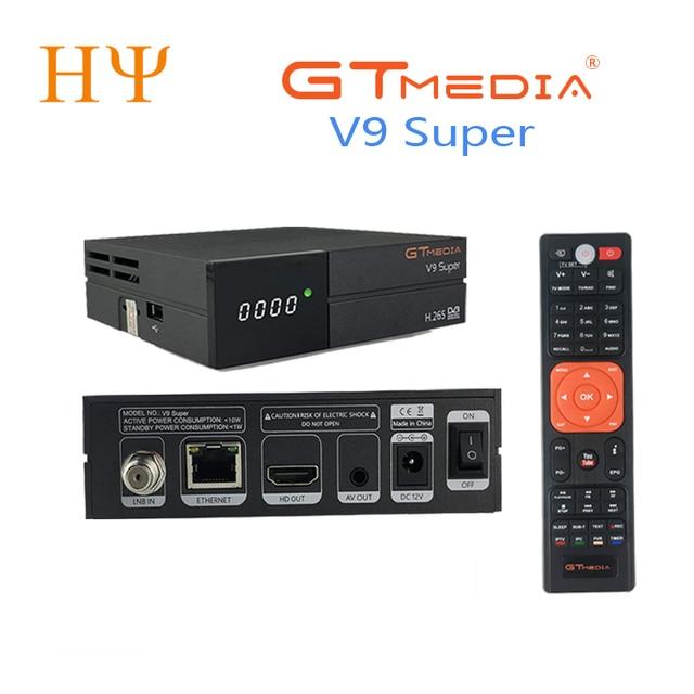 GTmedia V9 סופר DVB S2 לווין מקלט תמיכת H.265 אותו gtmedia v8 nova freesat v8 סופר built WiFi להגדיר תיבה עליונה