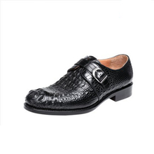 ouluoer Thai crocodile skin  Derby shoes men's formal wear Goodyear shoes business fashion leather shoes for men goodyear handmade shoes men s formal wear business shoes leather men s shoes leather was settled
