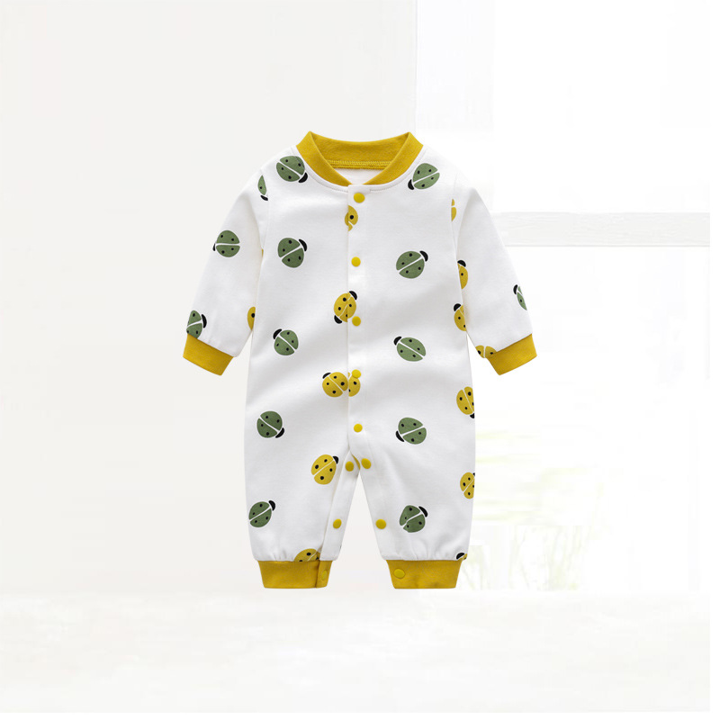 Infants and young children, clothing long sleeve cotton jumpsuits spring children climb a baby pajamas