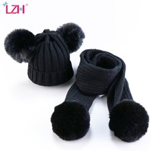 Bebê infantil cachecol outono inverno com rosca knitten chapéu e cachecol conjunto meninas meninos chapéu crianças cachecol + boné roupas recém-nascidos 0-3 anos