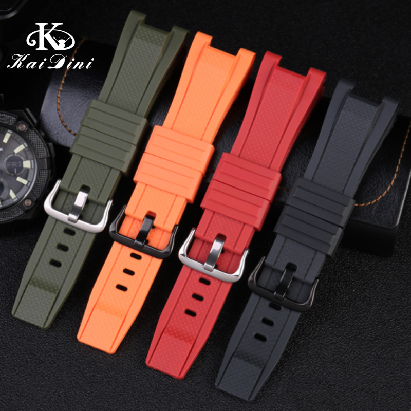 For G-SHOCK-MTG-B1000 Waterproof Sports Silicone Rubber Watch Watch Strap With Man Comfortable Soft Silicone Strap Concave 26mm