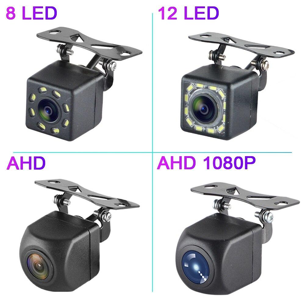 Автомобильная камера заднего вида Универсальная парковочная камера светодиодный ночное видение Водонепроницаемая широкоугольная HD цветн...