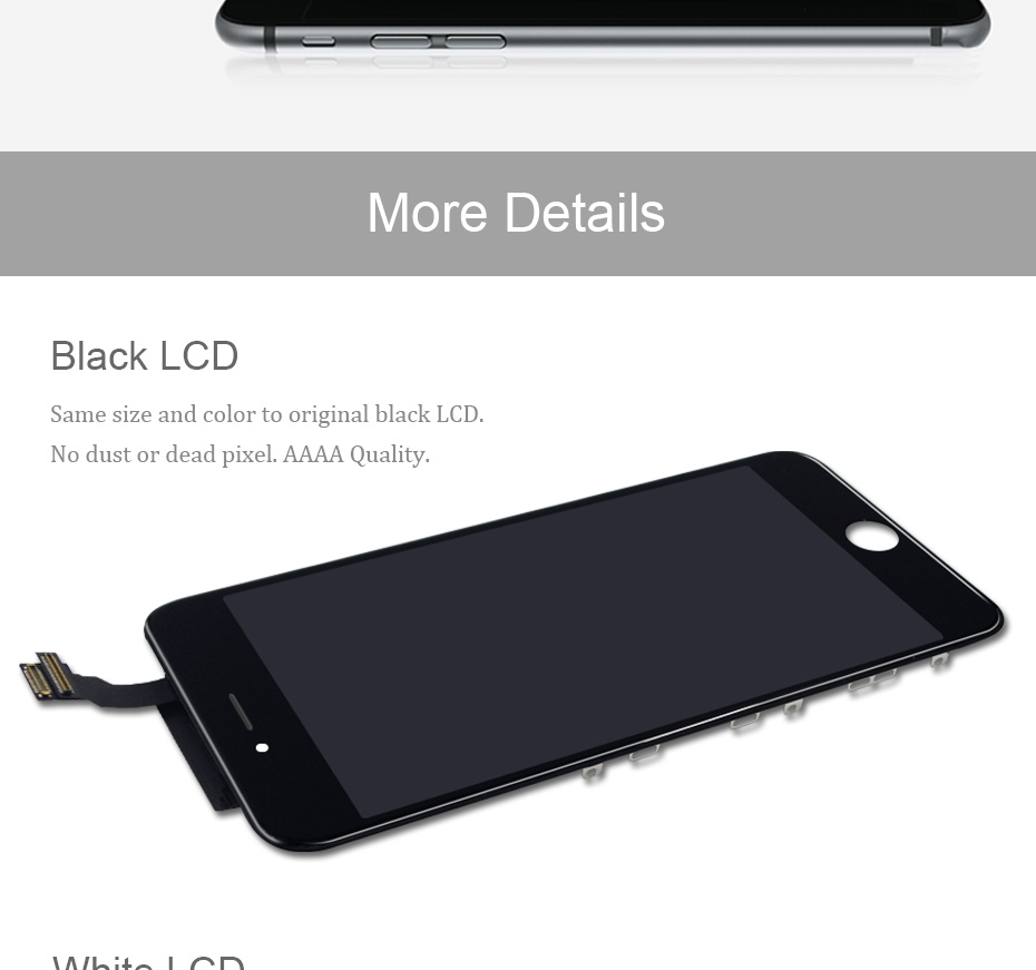 H4250fe51fdc94438b1cc7298450024b0t AAAA Original Color Screen LCD For iPhone 5s 6 6s 7 8 LCD Display Assembly Digitizer No Dead Pixel With 3D Touch Replacement LCD