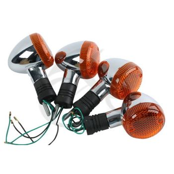 цена на Motorcycle Front Rear Chrome Turn Signal For HONDA STEED600 VT400 VT600 VT750 VT1100 VT 400 Blinker Lamp